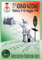Manifesto Adunata Padova 1998