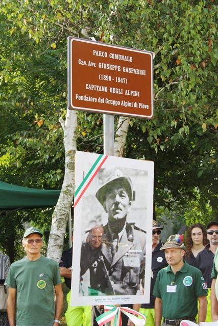 Intitolazione del Parco al nostro Capitano Gasparini